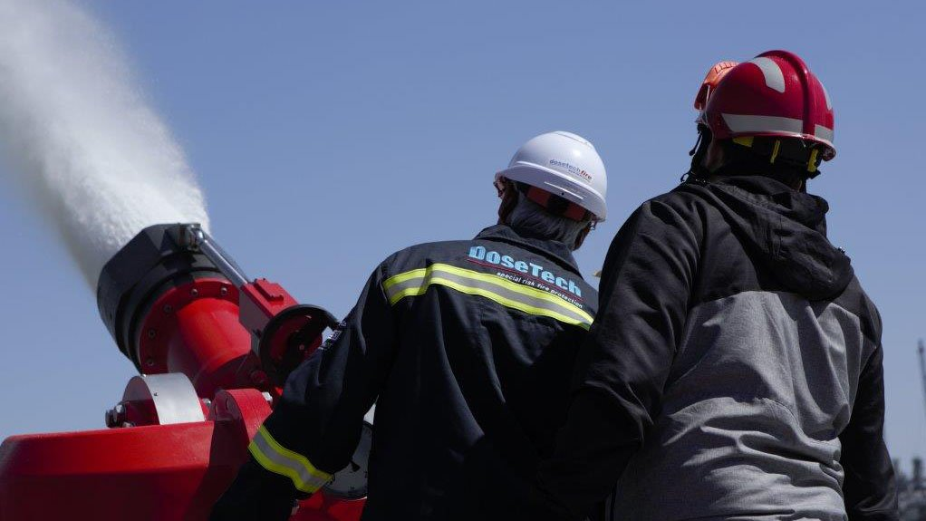 SAFETY MADE EASY DoseTech has seen eager demand from South African oil refineries for its mobile fire-protection equipment