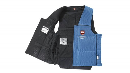Cooling vest reduces  industrial heat stress