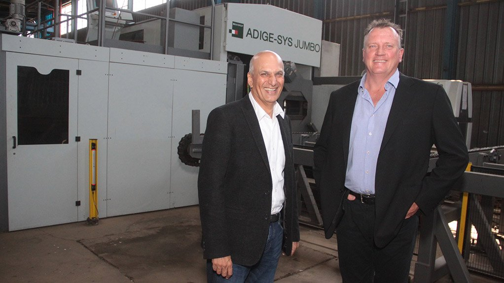 LT20 TUBULAR LASER Chadha (left) and Rippon's investment in the LT20 was prompted by winning two significant power generation projects