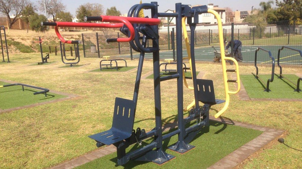 SOCIAL COHESION An example of some of the hard-wearing gym equipment that has been produced by Lani Service Centre