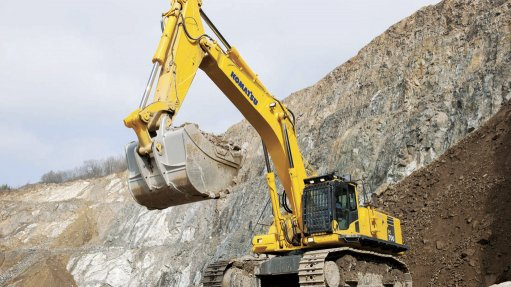 EXCAVATING INTEREST The first two units of Komatsu's PC700 excavator range to reach South African shores are already hard at work