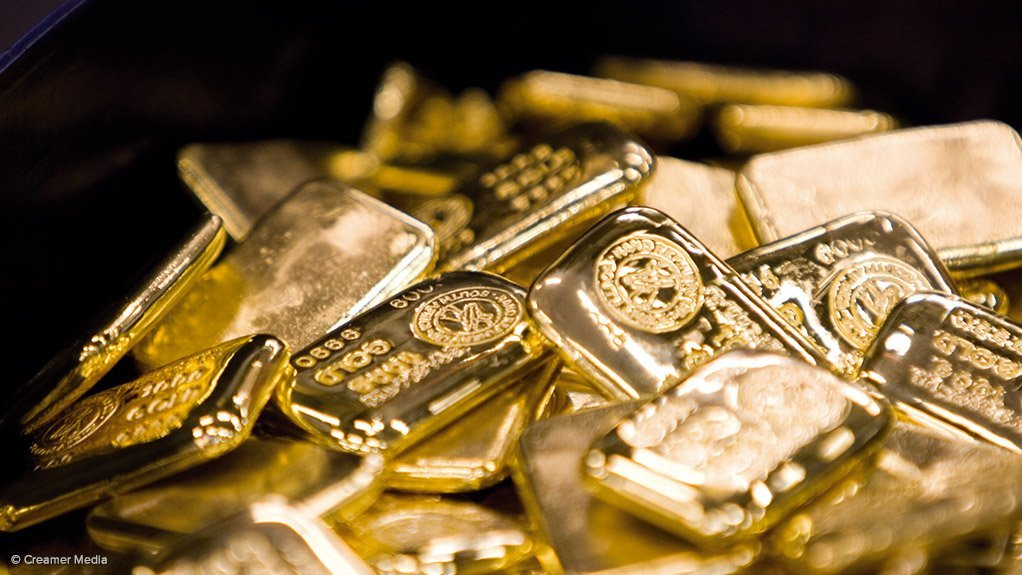 Gold bars produced at Rand Refinery, Germiston.