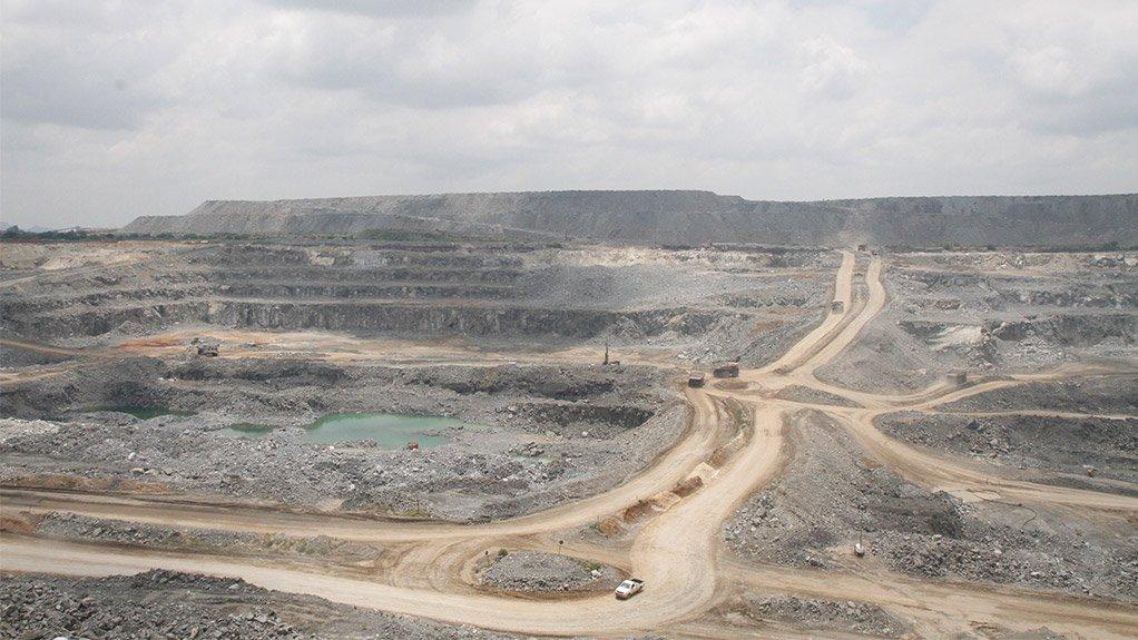 Tharisa opencast mine at Marikana, near Rustenburg