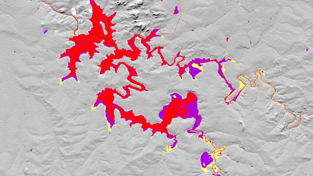 MONITORING WATER SURFACE GeoTerra Image's Mzansi Amanzi Web-based platform enables users to determine the extent of surface-water availability across South Africa