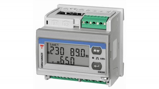 EM270 ENERGY METER Carlo Gavazzi's quick-fit 3-phase energy analyser with DIN rail or panel mounting capability will be showcased by Magnet Group at Power & Electricity World Africa
