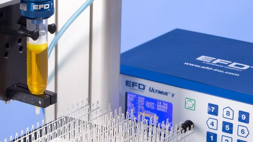 EFD   Ultimus™ V High-precision Fluid Dispenser increased Productivity in Critical Assembly Processes