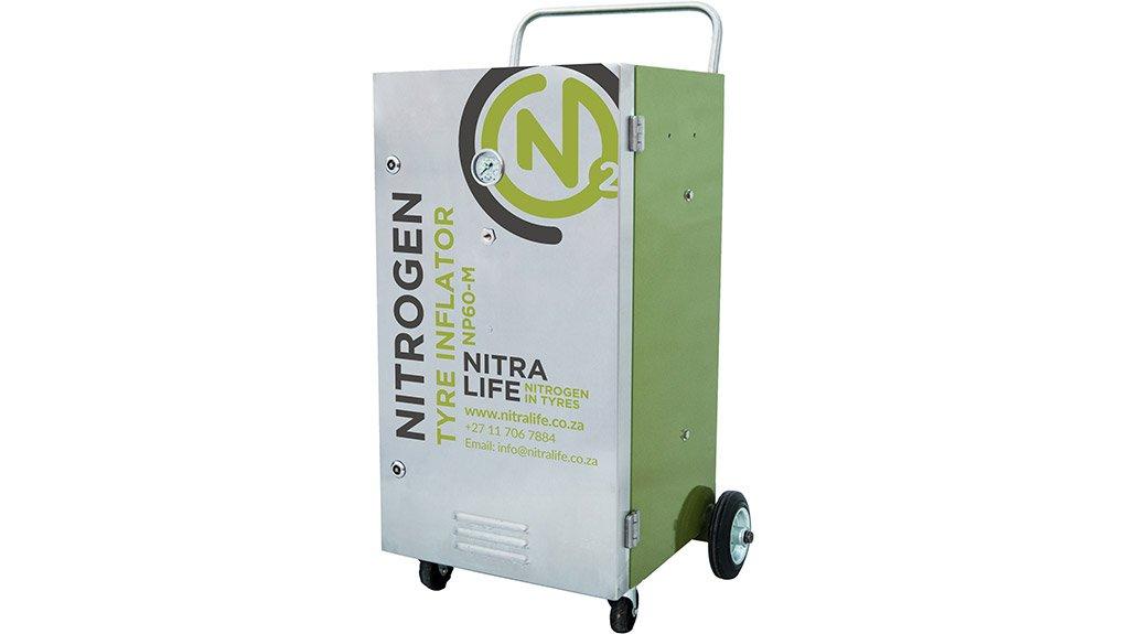 NITRALIFE NP60 MOBILE TYRE INFLATOR NitraLife has recently developed mobile nitrogen tyre inflators for car dealerships