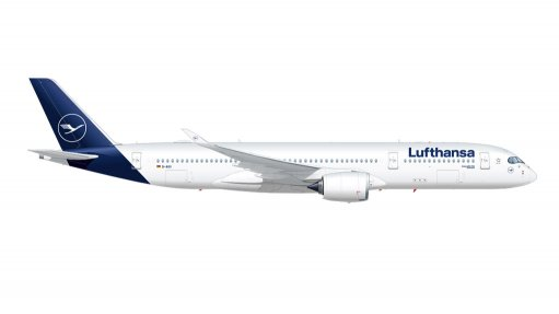 Artwork of an A350-900 in Lufthansa's latest livery