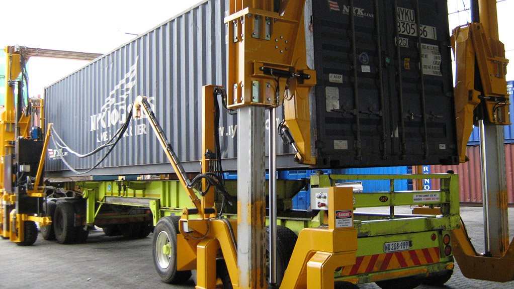 CONTAINER HANDLER BLTWORLD's portfolio of container and bulk handling equipment now includes straddle carriers
