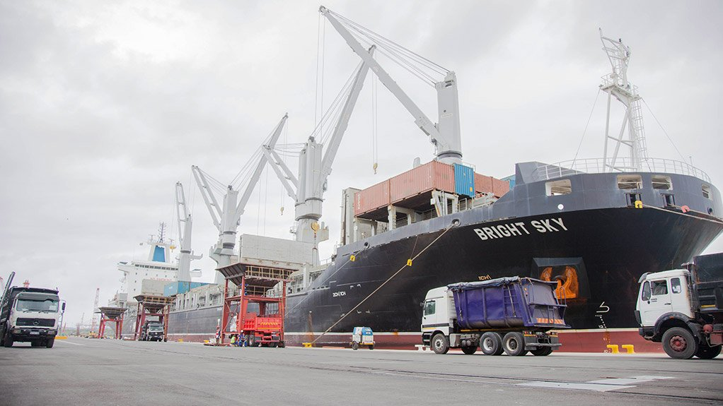 DURBAN HARBOUR The shiploaders needed to be refurbished in line with Transnet's upgrade of berths at Maydon Wharf