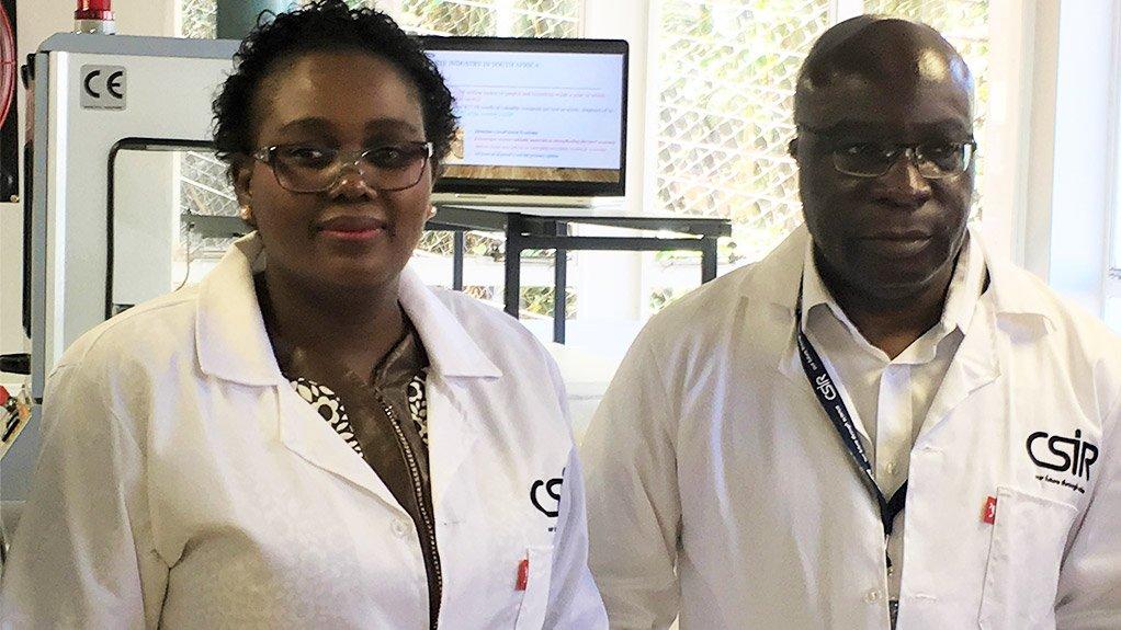 Science and Technology Minister Mmamoloko Kubayi-Ngubane and Biorefinery Development Facility group leader Bruce Sithole