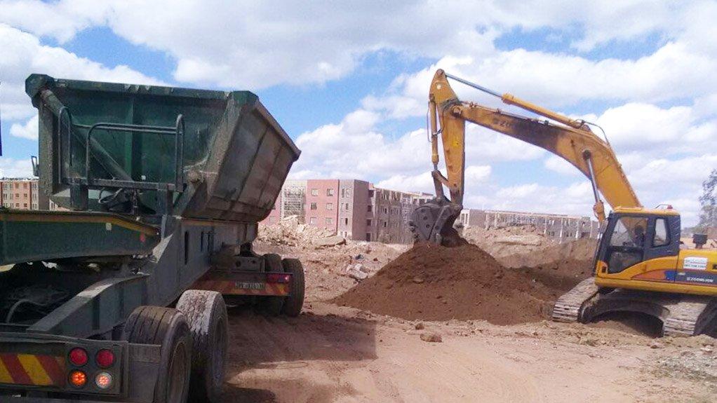 Gold mine dump rehabilitated to make way for housing development