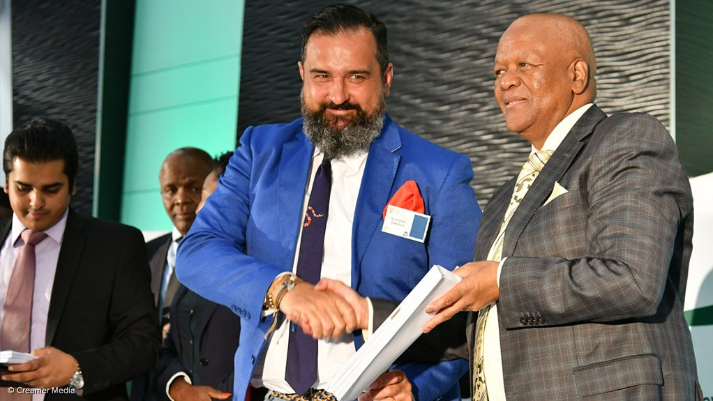 Energy Minister Jeff Radebe and Building Energy Africa and Middle East MD Matteo Brambilla
