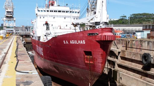 East London dry dock hosts SA Agulhas for maintenance lay-up