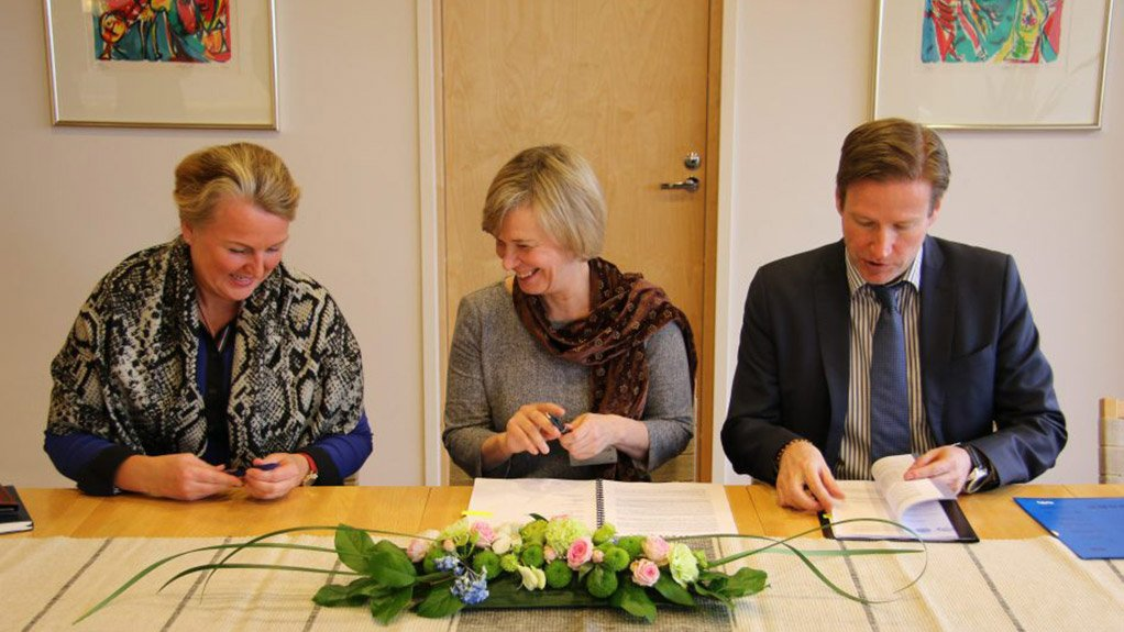 SIGNED, SEALED AND DELIVERED The financial commitment was signed at the at Nordic Development Fund (NDF) in Finland