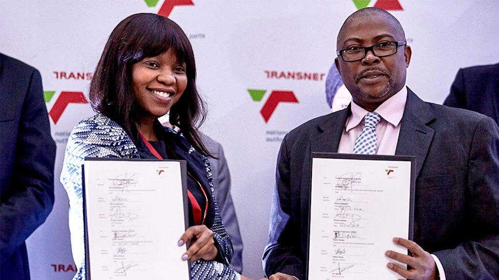 Sophie Masipa, Chairperson of Saldehco and Siyabonga Gama, Transnet CEO