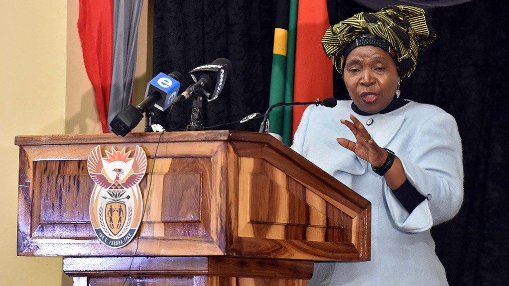 Minister in the Presidency Nkosazana Dlamini-Zuma
