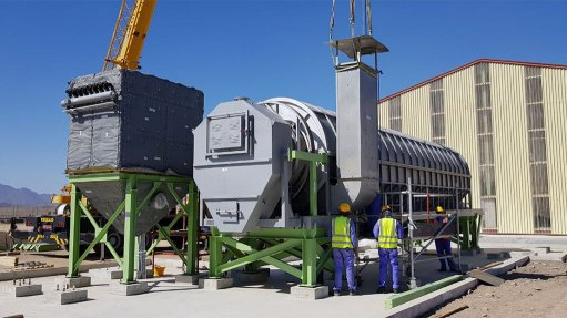 Stibnite ore dryer project finalised