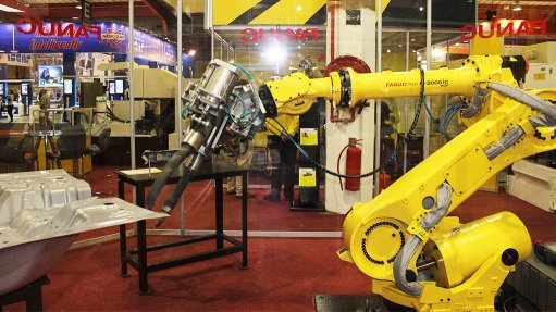 MACHINES ON DISPLAY Machine tools on display at the Machine Tool Africa Expo hosted by MTMA