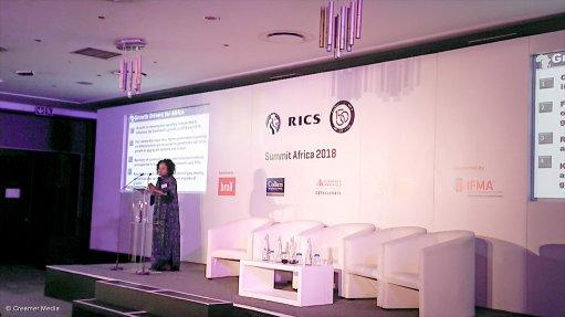 Imara Africa Consulting managing partner Barbara Barungi speaking at the Rics Summit Africa 2018