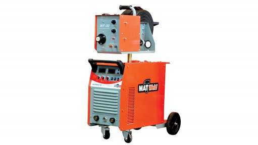 ALL IN ONE UNIT 500 A Inverter MIG welder supplied by Matweld complete with a separate wire feeder