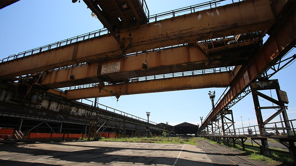 The old Evraz Highveld Steel and Vanadium plant in eMalahleni