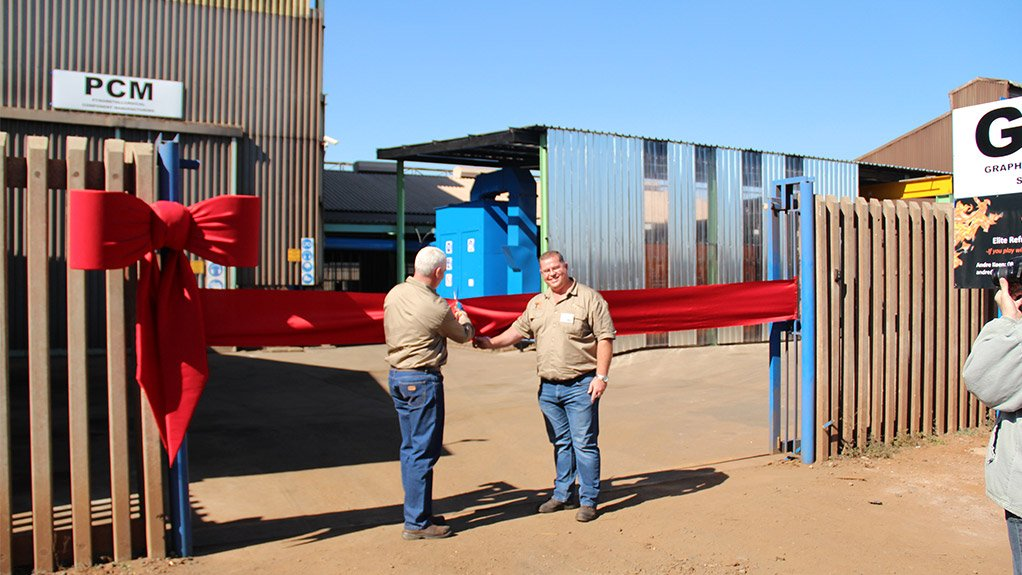 GFS FACILITY OPENING Hercules van der Merwe at the Graphite Freezeline Solutions facility opening
