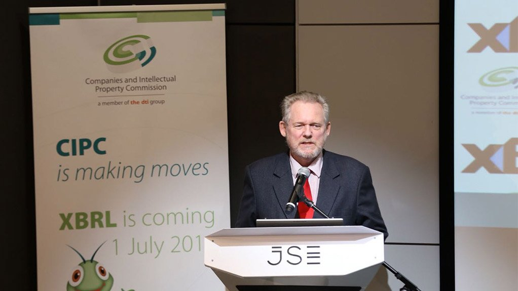 Trade & Industry Minister Dr Rob Davies at the XBRL launch, JSE