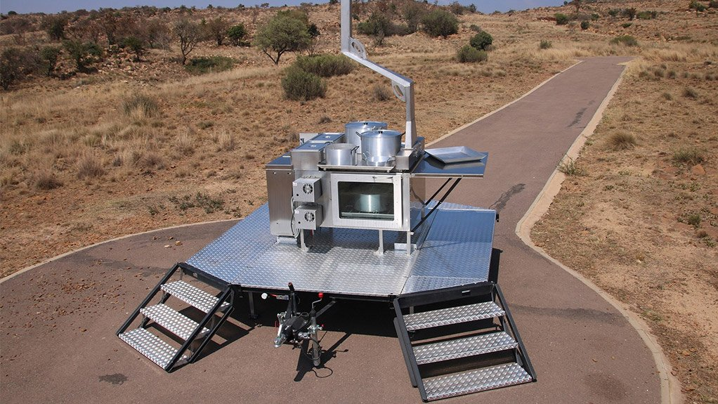 One of the new Desert Wolf field kitchens for the South African Army