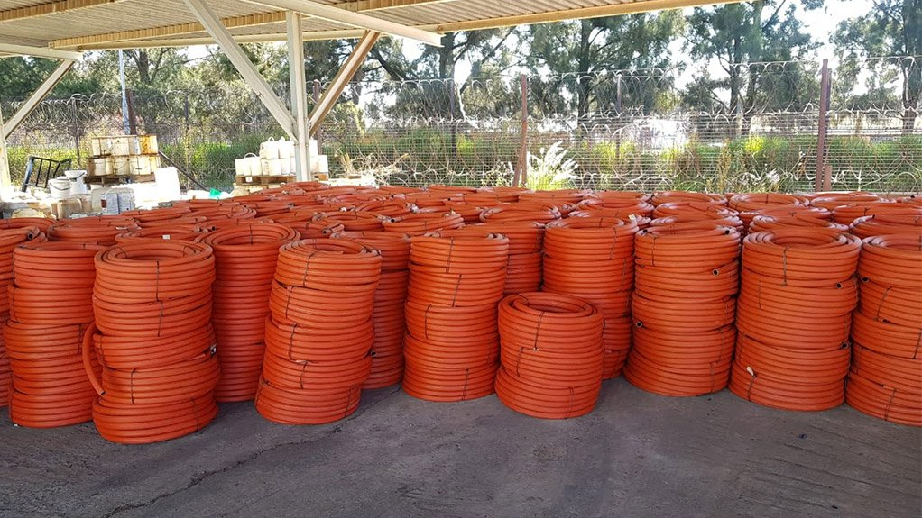 NEW OFFERING  Dragline hose can be manufactured to a custom length