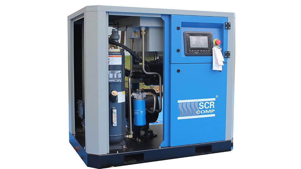 ALL IN ONE SOLUTION The SCR PM Compressor offers energy saving and a sleek design