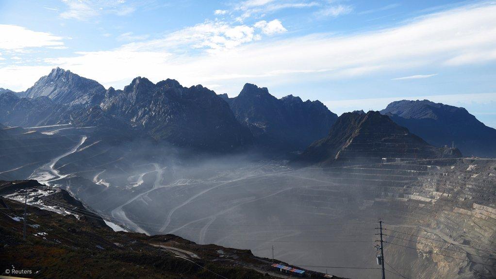 The Grasberg mine in Indonesia.