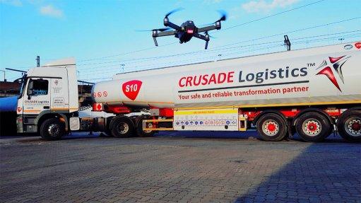 Crusade Logistics using drone technology