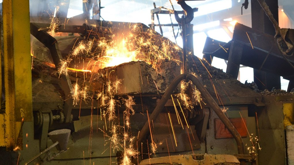 SPARKS FLY Confiscated bearings are taken to a smelter to be destroyed
