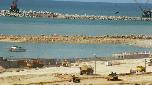 BEFORE THE PORT Coega port shows what the projects could look like