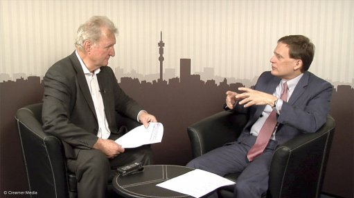 CPM Group managing partner Jeffrey Christian (right) interviewed by Mining Weekly Online's Martin Creamer