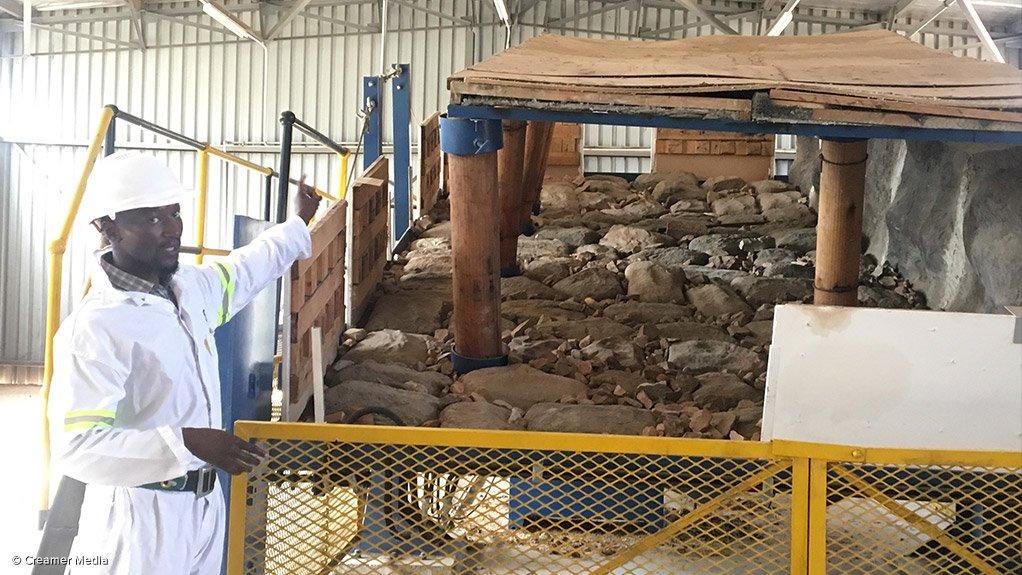 The simulation stope at the Mandela Mining Precinct.
