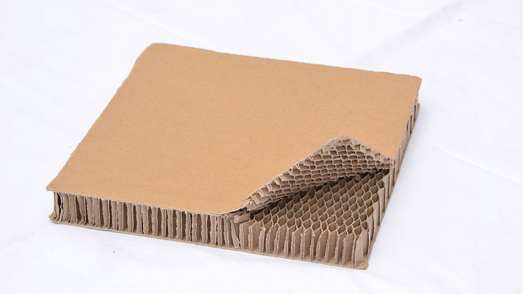 VISUAL RESEMBLANCE Honeycomb fibreboard technology takes its name from the visual resemblance to a bee's honeycomb