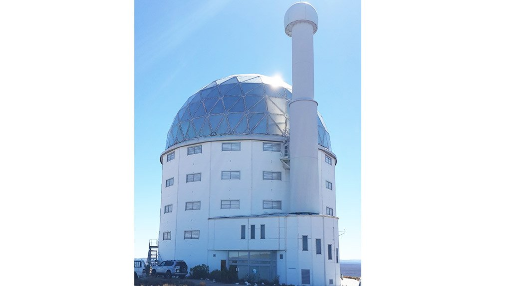 SURFACE SEALING VIP QuickSeal Reflect-Silver was applied to the dome of the structure housing the Southern African Large Telescope, in the Northern Cape