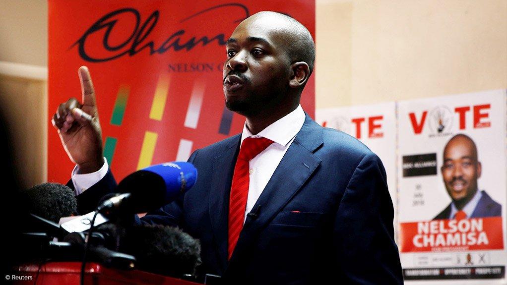 MDC Alliance leader Nelson Chamisa