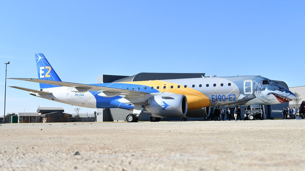 New generation Embraer airliner on demonstration visit to South Africa