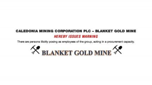 Caledonia Mining Corporation PLC – Blanket Gold Mine