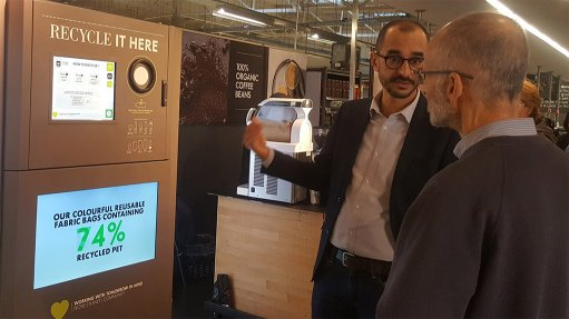 Retailer pilots South Africa's first in-store recycling vending machine