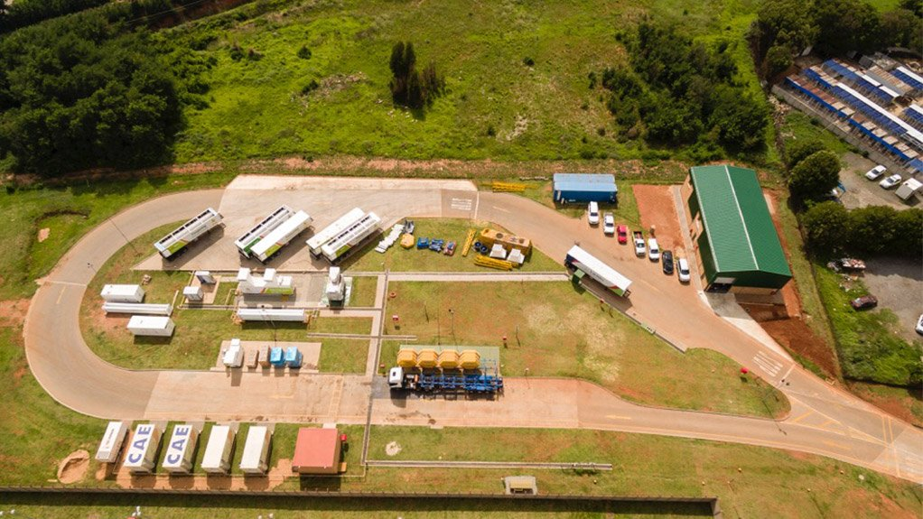 UP IN THE AIR An aerial view of the revolutionary Langlaagte CNG filling station