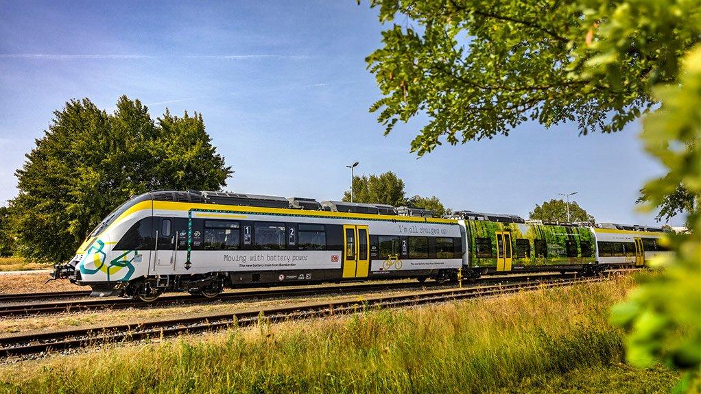 Bombardier Transportation's electric train makes its public debut