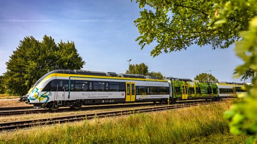Bombardier Transportation's electric train makes its public debut