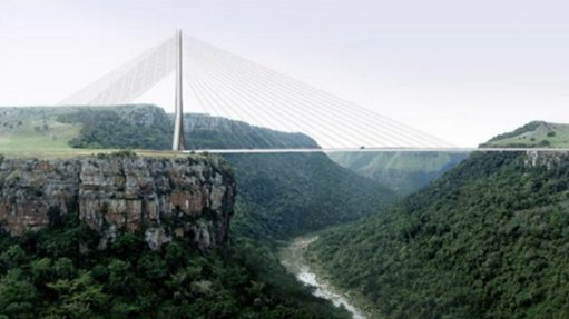 Artist impression of Msikaba bridge