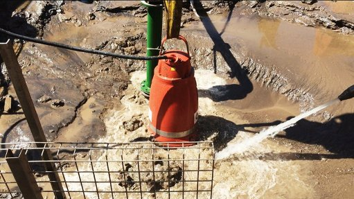 OPERATIVE  Grindex Bravo pump at a platinum mine plant in Rustenburg