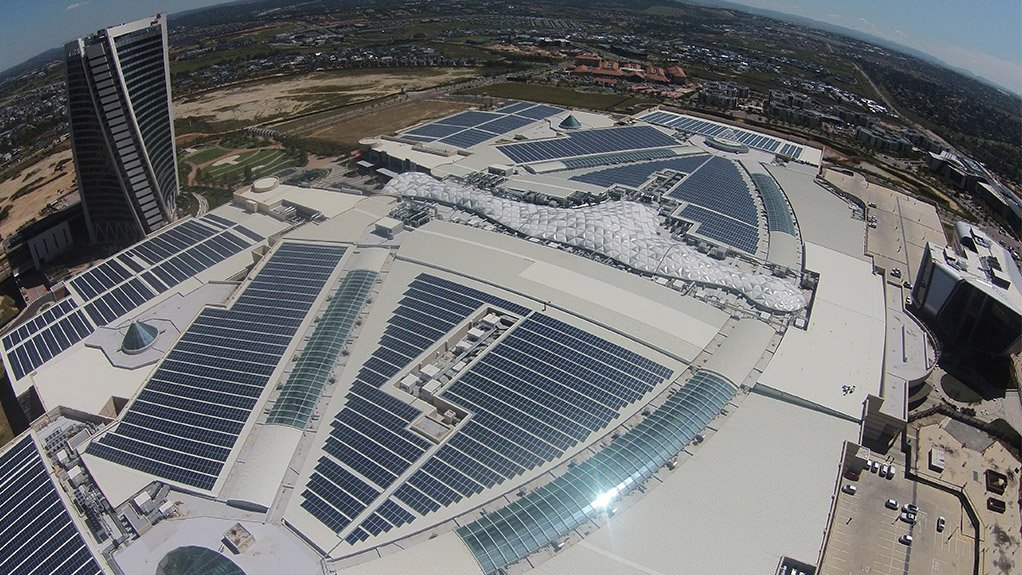Mall of Africa's rooftop solar photovoltaic system
