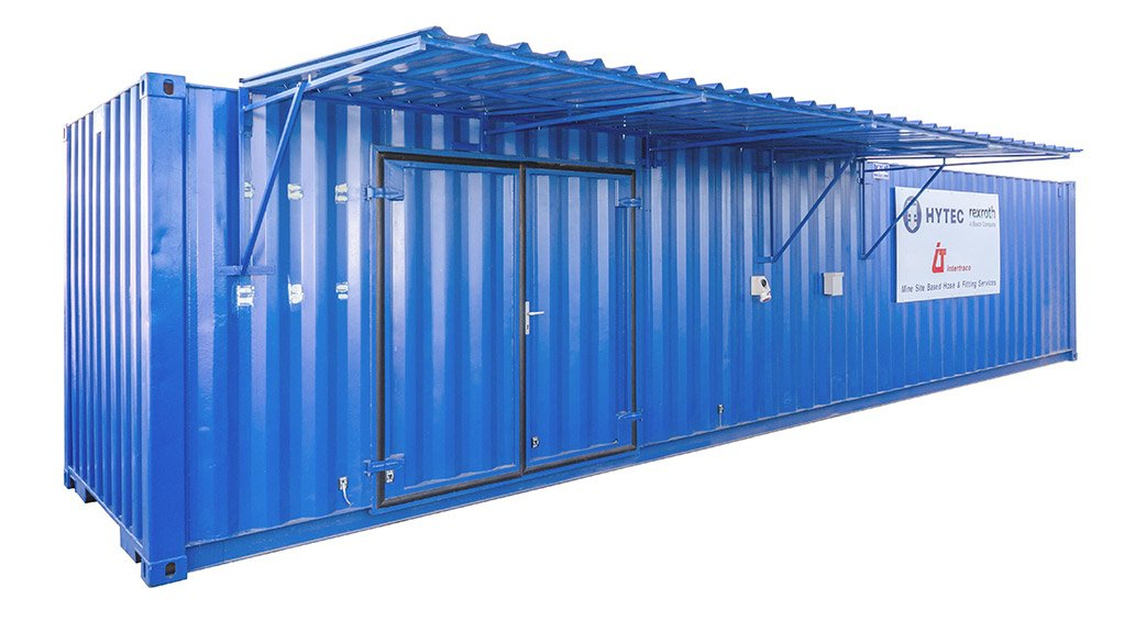 CONTAINERISED HOSE WORKSHOP Hytec Services Africa has launched its mine site based containerised hose workshops to provide a comprehensive onsite hose and fittings service to its mining clients across Africa